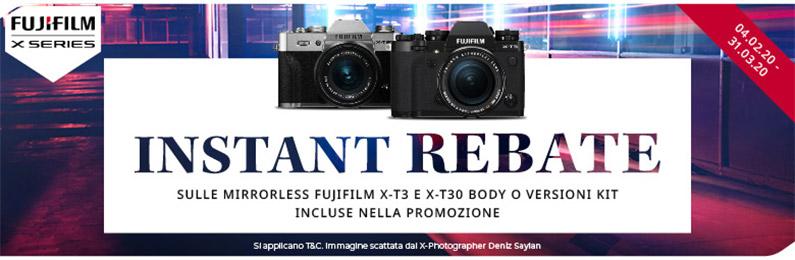 Fujifilm Instant Rebate serie X
