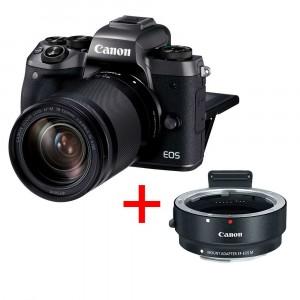 Canon EOS M5 con 18-150mm + EF-M  Adapter