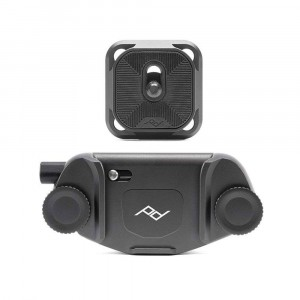 Peak Design Capture Camera Clip V3 con Standard Plate - Nero