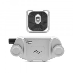 Peak Design Capture Camera Clip V3 con Standard Plate - Silver
