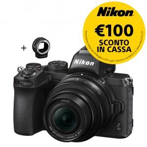 Nikon Z50 (KIT) Nikkor DX 16-50mm VR + FTZ + SD 64GB 667x Pro LEXAR