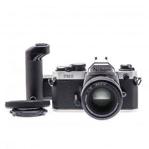 Nikon FM2 Silver (Kit) + 50mm f/1.8 AI + Winder