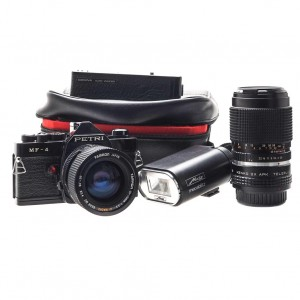 Petri MF-4 Black + 35-70mm Tamron + 135mm f/2.8