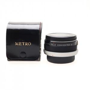 2x Tele Converter Metro per Canon FD