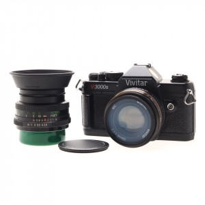 Vivitar V3000 S Black + 50/1.7 MC + 28/2.8 MC