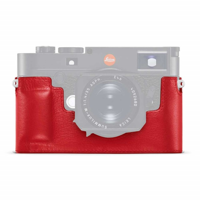 Leica Protector M10, leather, red (24022)