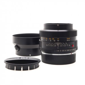 50mm f/1.4 Summilux-R Leica I (11675) + Paraluce (12508) + Cap (14171)
